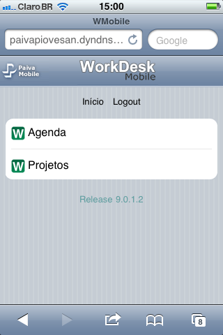 WorkDesk Mobile - Tela Inicial